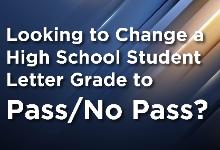 change grade to pass-no pass