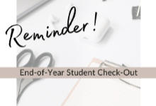 End of the Year check out