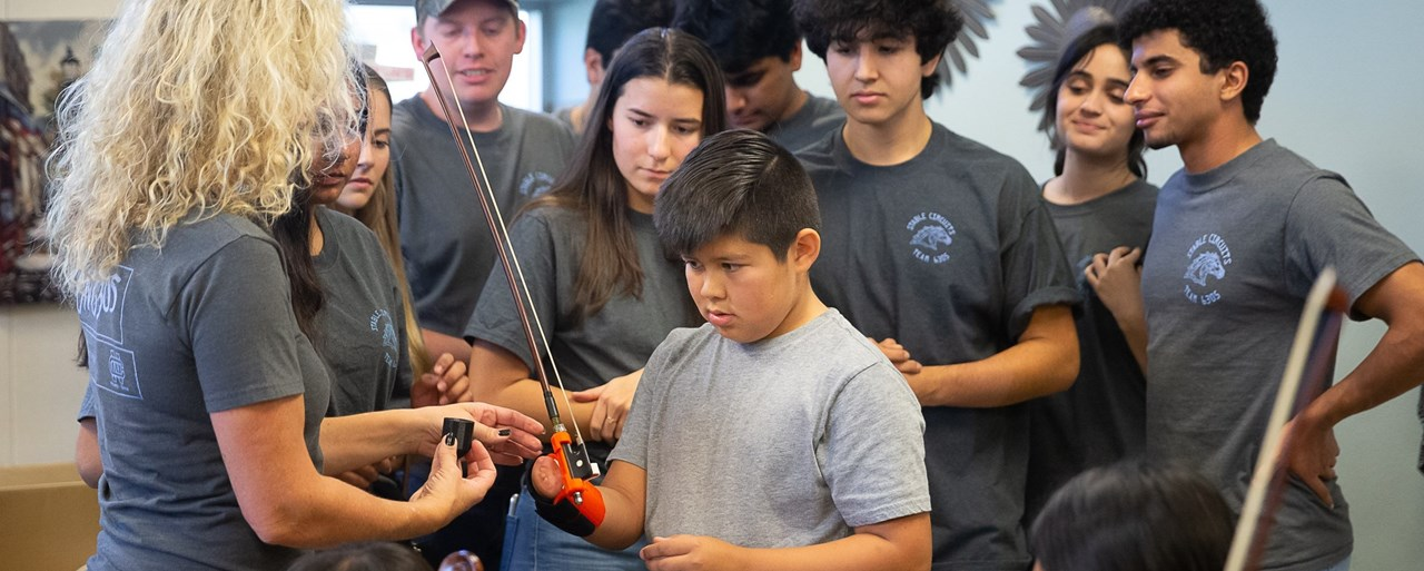 CN Robotics makes 3D aid for student to play Bass
