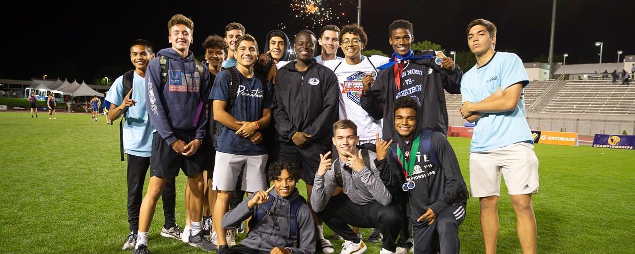 CN Boys Track Win CIF title