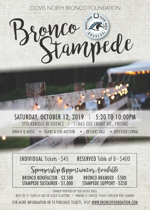 Bronco Stampede--October 12, 2019