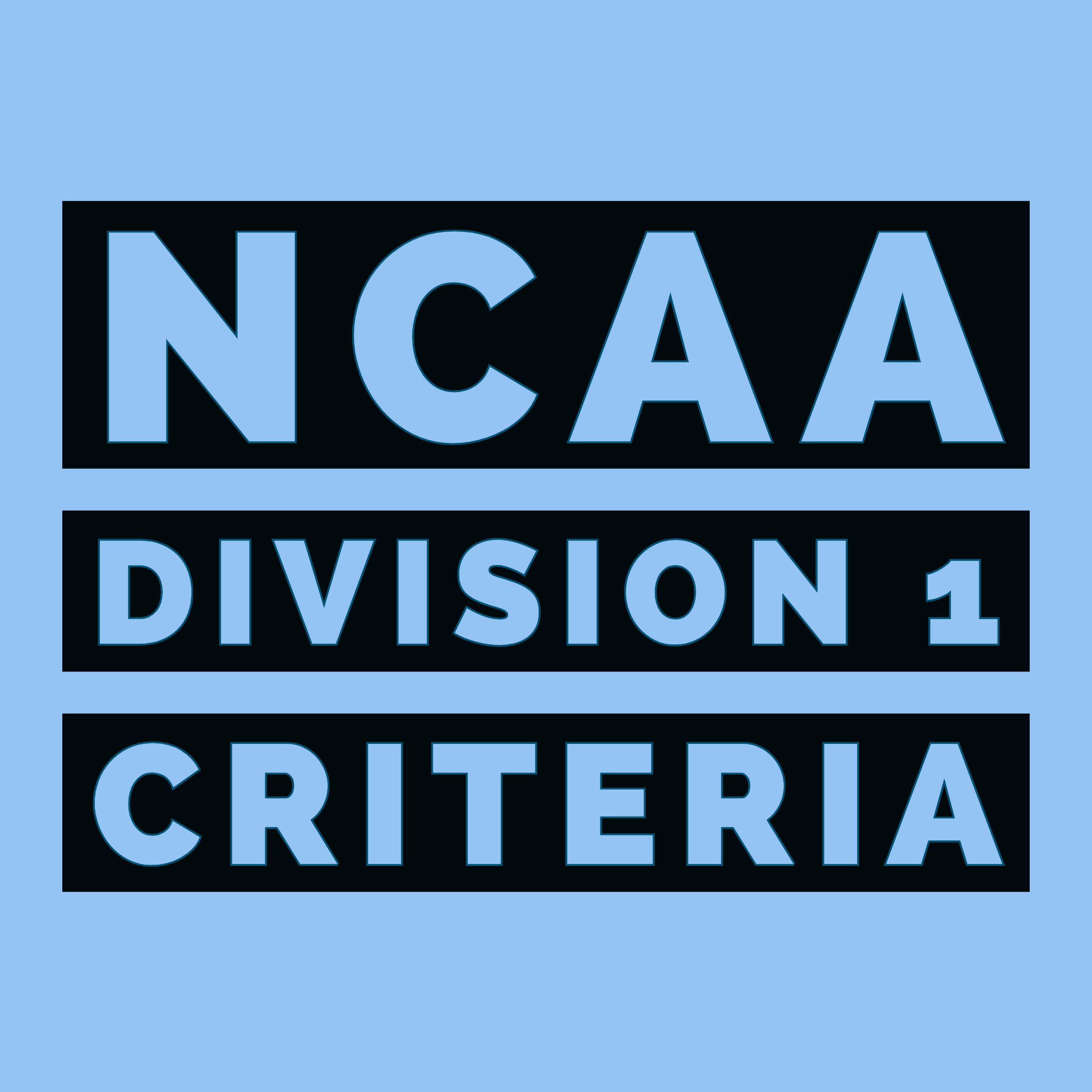 NCAA DI Requirements