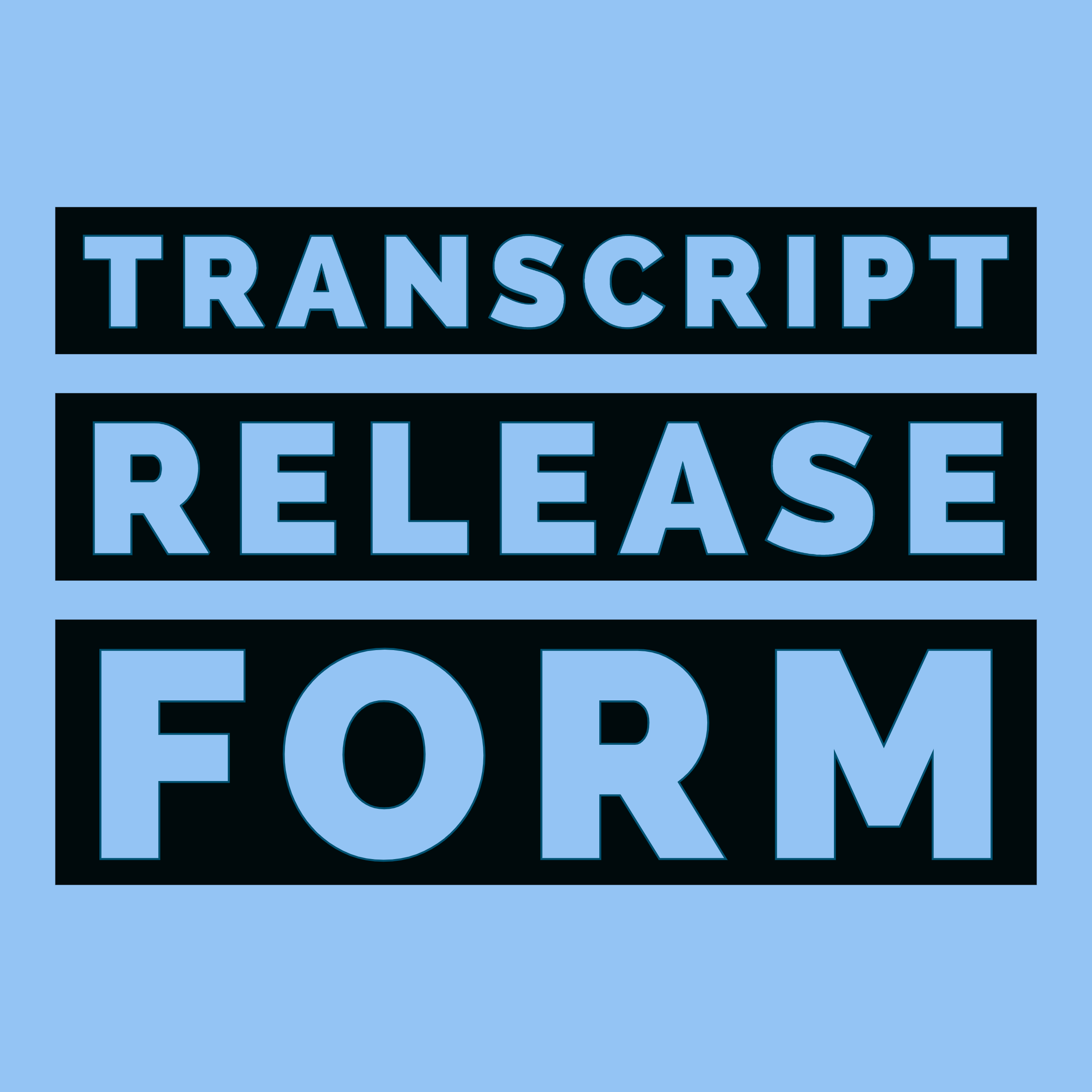 NCAA Transcript Release form