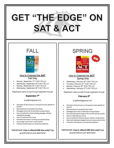 Get the EDGE on the SAT Prep Course